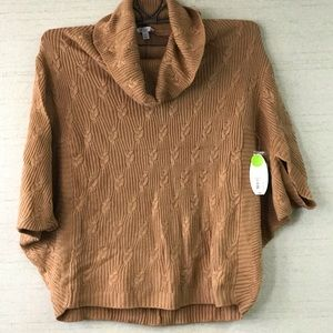 Boutique Plus Crop Sweater Plus Size 2-3X NWT Tan